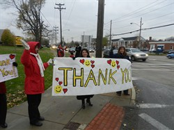 Levy Volunteers Thank Community for Support with Special Rally
