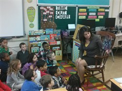Superintendent Reid Spends Time Reading with Sunview First Graders