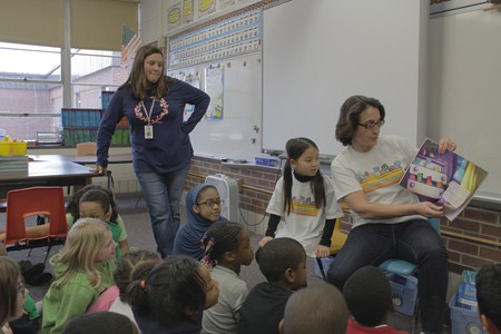 Adrian Second Grader's Mother and Author Reads Book to Class