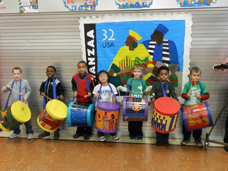 Sunview First Graders Participate in Special Kwanzaa Presentation