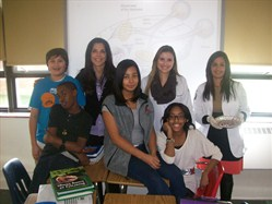 Memorial Junior High Students Participate in Activity with Cleveland Clinic's Cole Eye Institute