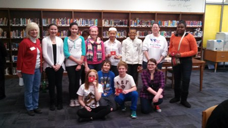 Memorial Junior High School Students Share Thoughts on Patriotism, Receive Honors