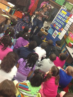 In Honor of Black History Month, Brush High School Students Read to Adrian Elementary Students