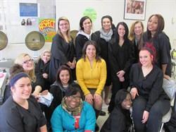 Superintendent Reid Visits the Cosmetology Program