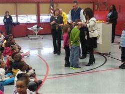 Superintendent Linda N. Reid Honors Rowland Students for Positive Behavior