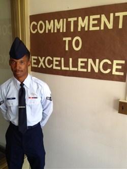 Airman First Class Jeffrey L. Pope Visits ArcTech Students