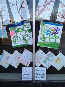 Rowland and Greenview Artwork Displayed in South Euclid Storefront Art Initiative