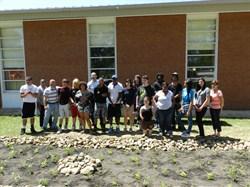 Collaborative Effort Creates Environmentally Friendly Rain Garden at ArcTech