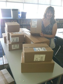 Greenview Teacher's Inquiry Results in More than 500 Donated Books for SEL Students