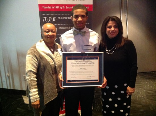 Tyler Wynne Wins Eric Scott Russell Student Kindness Award