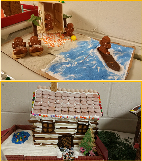 Rowland Students Create Gingerbread Homes as Part of Language Arts Project