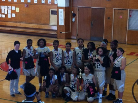 Memorial Eighth Grade Lady Arcs Basketball Wins Championship