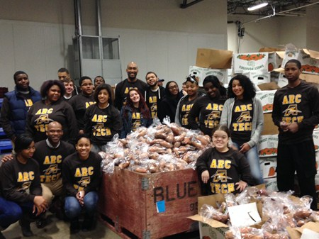 ArcTech Students Volunteer at the Cleveland Food Bank