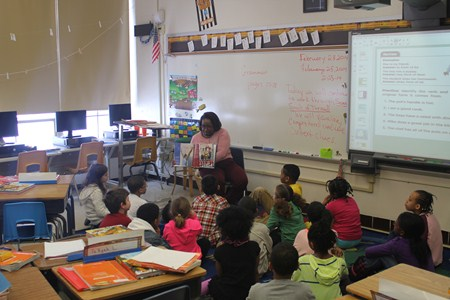Brush Students Visit Elementary School Buildings to Celebrate The National African-American Read-In