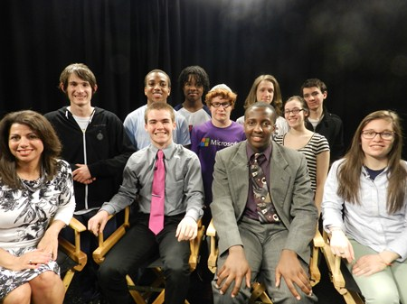 Superintendent Linda N. Reid Interviews Students on Most Recent AVTV Production