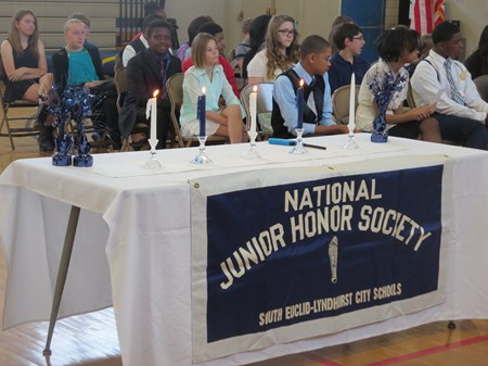 Memorial Students Inducted into National Junior Honor Society