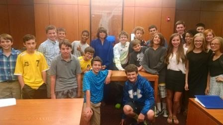Students Perform Mock Trial With Judge Bozza