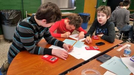Memorial Math Students Perform in City Wide Math Competition