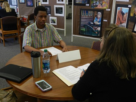 Mock Interviews Held In Brush Library for Special Education Students