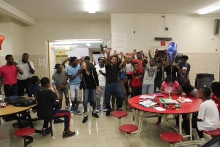 Memorial Staff Reward Students for Being Accountable with Lunchtime Dance-Off