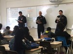 Greenview 6th Graders Take 'Time Out' to Read with NBA Referees image
