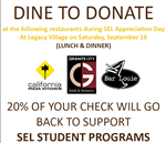 Dine to Donate at Legacy Village