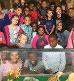 6th Grade Classroom at Greenview Joins Superintendent in Unveiling Class Pet image