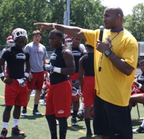 Roy Hall Holds Football Camp at Brush