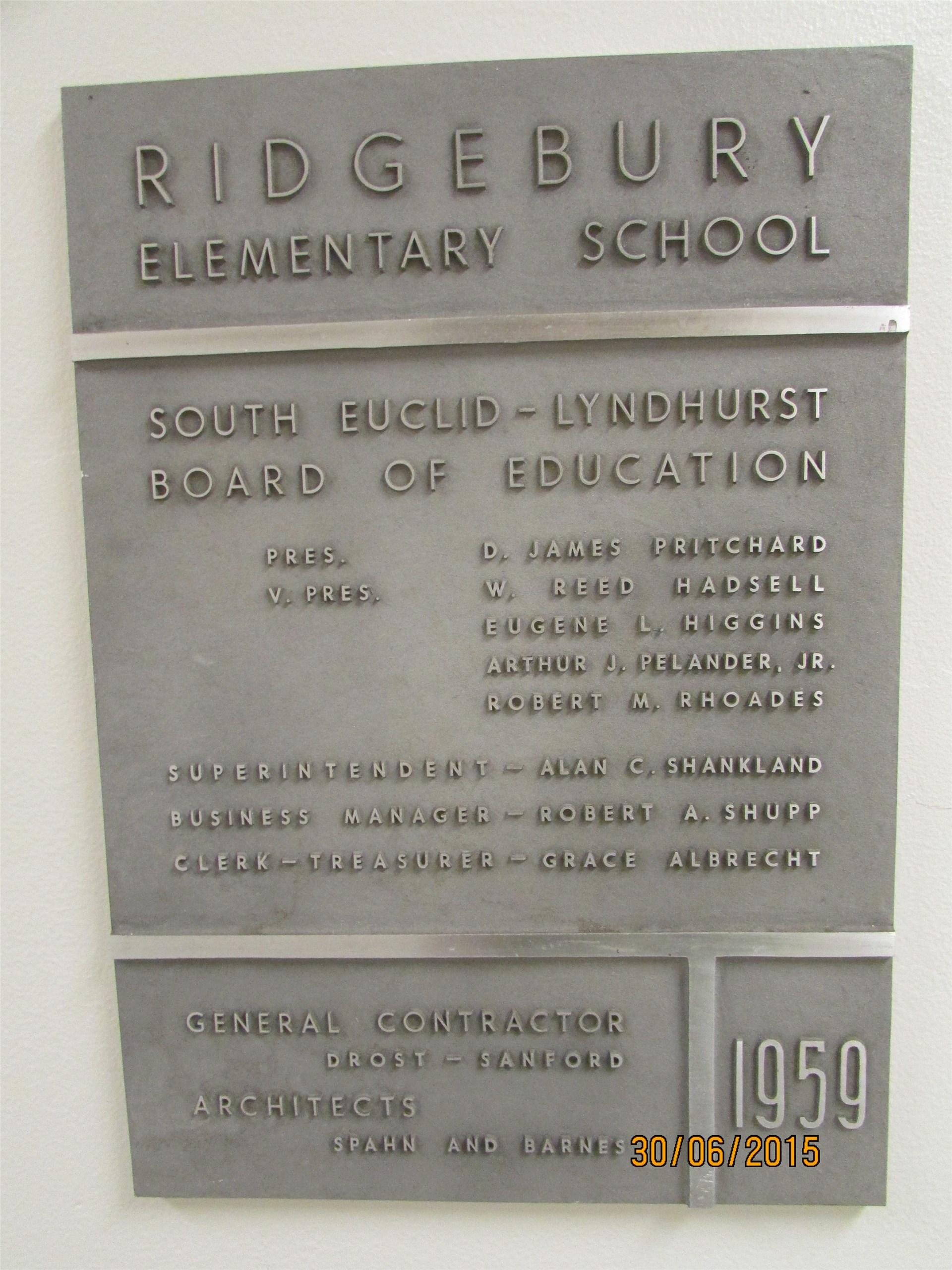 Ridgebury Elementary School - 1959