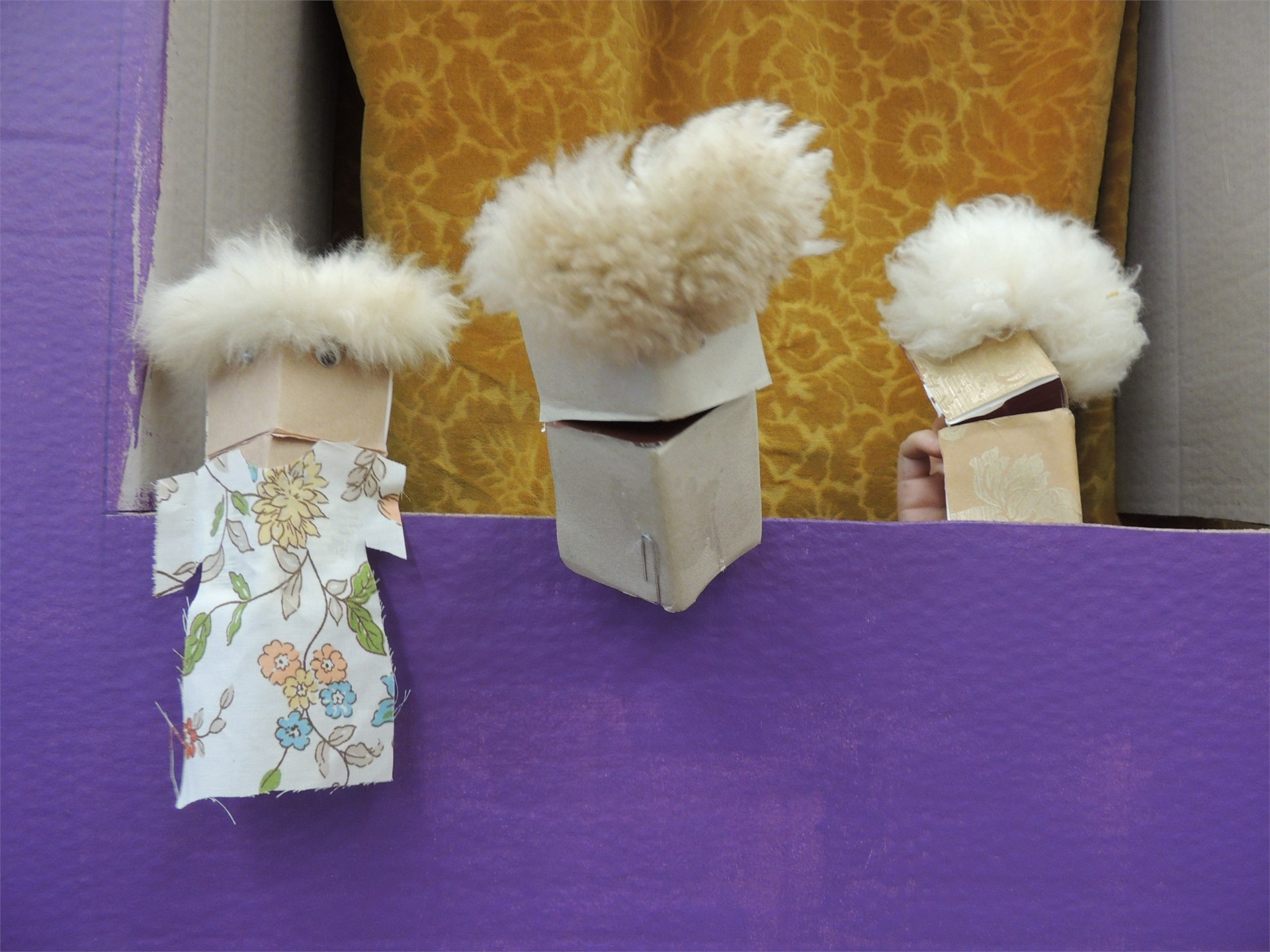 A puppet show with Mrs. Marrie's class