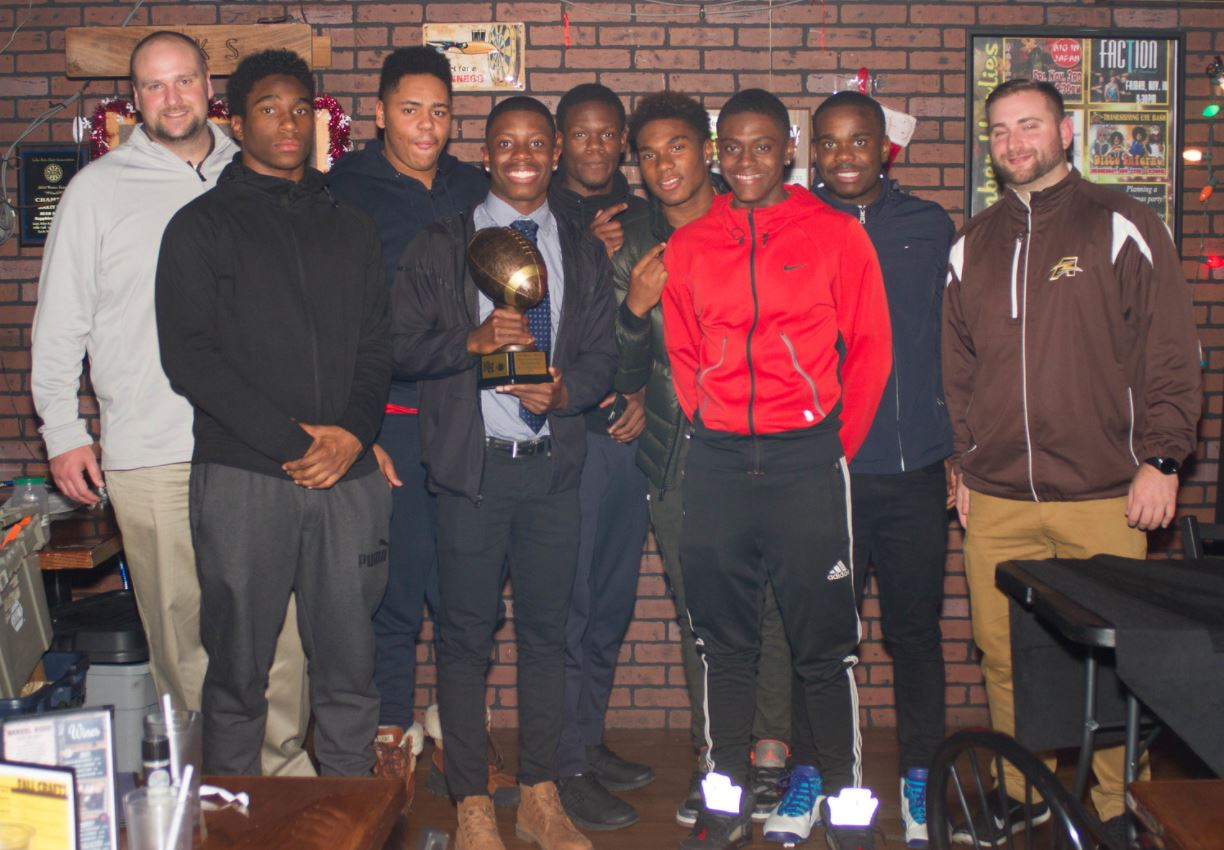 Godwin with Teammates and Coaches at Fisher Award